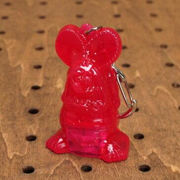 ラットフィンク キーホルダー フィギュア ライト付き アメリカ アメリカン雑貨 グミキャンディーライト Rat Fink ピンク_KH-018-HYS