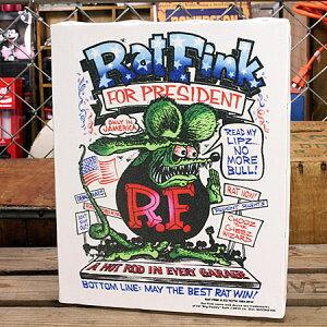 ラットフィンクポスターキャンバスパネルRatFinkPRESIDENTサイズL