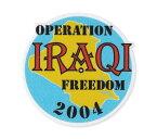 ミリタリー ステッカー アメリカン 車 バイク おしゃれ かっこいい アウトドア スーツケース カーステッカー 転写 イラク戦争 イラクの自由作戦 2004 【メール便OK】_SC-093-MIG