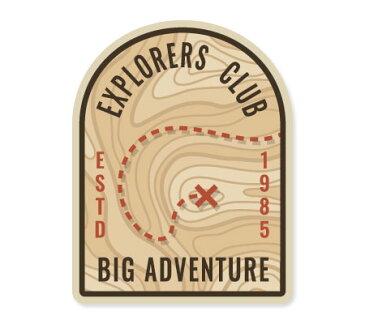 ステッカー アウトドア アメリカン おしゃれ スーツケース キャンプ 車 バイク かっこいい 地図 マップ Explorers Map BIG ADVENTURE 【メール便OK】_SC-ETM004-AHD