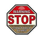 セキュリティ ダミー ステッカー 防犯 アメリカン かっこいい おしゃれ 世田谷ベース シール 窓 玄関 ガレージ 警告 止まれ・監視しています 【メール便OK】_SC-SC10M-SXW