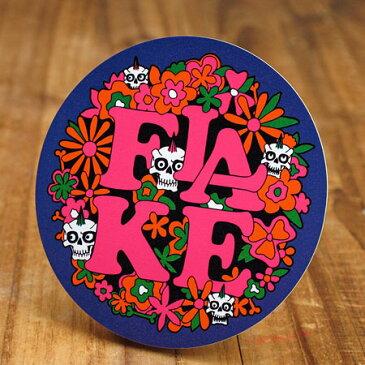 ステッカー スケートボード 車 アメリカン スカル スノーボード おしゃれ バイク ヘルメット かっこいい カーステッカー フレイク FLAKE Flower Skull 【メール便OK】_SC-FLS007-ACT