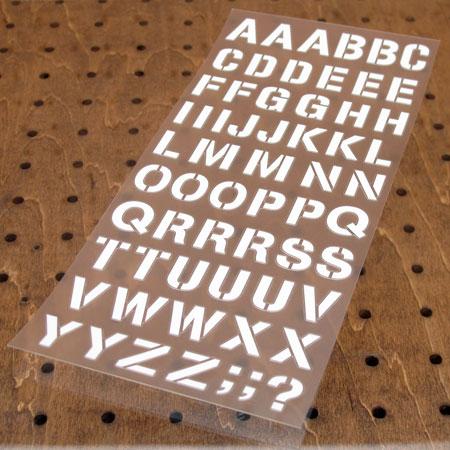 アルファベットステンシル転写ステッカー63Pセット ホワイト カーステッカー 【メール便OK】_SC-AP249-TMS