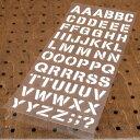 アルファベットステンシル転写ステッカー63Pセット ホワイト ...