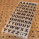 アルファベットステンシル転写ステッカー63Pセット ブラック ...
