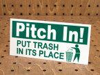 ステッカー アメリカン インテリア サイン 表示 案内 注意 おしゃれ かっこいい 「ご協力を!ゴミはゴミ箱へ捨ててください」 【メール便OK】_SC-PS09-LFS