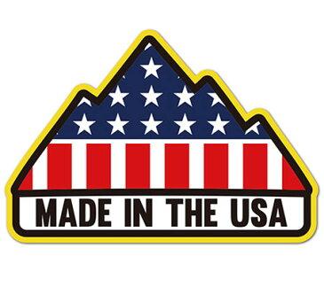 ステッカー アメリカン 車 バイク アウトドア スーツケース おしゃれ かっこいい マウンテン MADE IN USA アメリカ国旗 BADASS STICKER SUPPLY 【メール便OK】_SC-BSS054-RGH