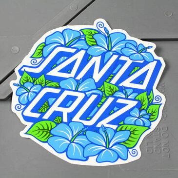 ステッカー スケートボード スケボー サンタクルーズ スノーボード スノボ 車 バイク アメリカン カーステッカー ハワイ ハイビスカス SANTA CRUZ HIBISCUS DOT サイズL 【メール便OK】_SC-CHX068-ACT