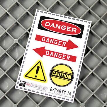 ステッカー セット 車 バイク アメリカン 世田谷ベース かっこいい DANGER 危険 CAUTION 注意 矢印 【メール便OK】_SC-DPARTS1A-SXW