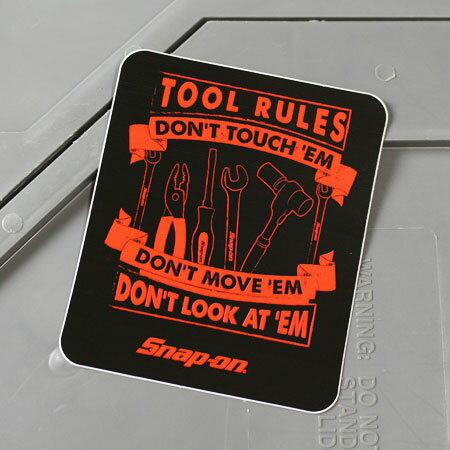 スナップオン ステッカー アメリカン 車 おしゃれ バイク ヘルメット かっこいい カーステッカー Snap-on TOOL RULES 【メール便OK】_SC-SN033-FNM
