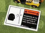 ステッカー 世田谷ベース ゴルフカート 車 アメリカン おしゃれ バイク ヘルメット かっこいい カーステッカー 警告 ゴルフボール WARNING 両面プリント 【メール便OK】_SC-WFD01-SXW
