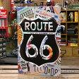 サインプレート アンティーク 看板 サインボード ルート66 ナンバープレート ROUTE66 License Plates サイズS アメリカ アメリカン雑貨 【メール便OK】_SP-015-FEE