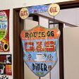 ルート66 サインプレート アンティーク 看板 吊り看板 サインボード ROUTE66 GAS&DINER アメリカ アメリカン雑貨_SP-20523-FEE