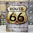 ルート66 サインプレート アンティーク 看板 ROUTE66 FEEL THE FREEDOM A サイズM アメリカ アメリカン雑貨_SP-Z5349-2-FEE