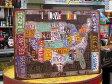 サインプレート アンティーク 看板 サインボード ナンバープレート 地図 I LOVE USA サイズM アメリカ アメリカン雑貨_SP-Z5379-FEE
