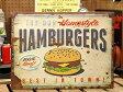 サインプレート アンティーク 看板 サインボード ハンバーガー カフェ ガレージ HAMBURGERS アメリカ アメリカン雑貨_SP-EM14001-FEE