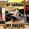 サインプレート アンティーク 看板 サインボード アメ車 ピンナップガール ガレージ MY GARAGE アメリカ アメリカン雑貨 【メール便OK】_SP-HLHT4662-FEE