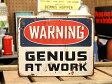 サインプレート アンティーク 看板 サインボード 注意 警告 ガレージ WARNING アメリカ アメリカン雑貨 【メール便OK】_SP-HLHT5629-FEE