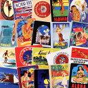 ステッカー セット スーツケース 旅行カバン トラベルステッカー レトロ 20枚セット ホテル ハワイ アメリカ 南国 ラゲージラベル ALOHA HAWAII 【メール便OK】_SC-838162-HYS