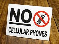 サイン&ラベルミニステッカー/「携帯電話使用禁止」B