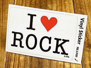 ステッカー 車 アメリカン アイラブ おしゃれ バイク ヘルメット かっこいい カーステッカー 愛してる I LOVE ROCK ロック 【メール便OK】_SC-IL006-GEN