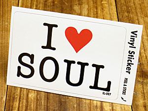 ステッカー 車 アメリカン アイラブ おしゃれ バイク ヘルメット かっこいい カーステッカー 愛してる I LOVE SOUL ソウルミュージック 【メール便OK】_SC-IL007-GEN