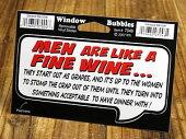 バブルステッカー/7046/男はワインのようなもの。ブドウにはじまり、女性次第でディナーを共にする相手にまで成長する