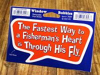 バブルステッカー/7057/一番早く漁師の心臓に効くのは、彼のフライを投げればいい!