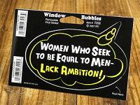 バブルステッカー/7058/男性と平等に扱われようとする女性は野心に掛ける