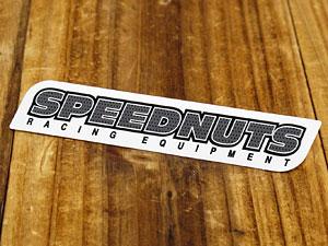 ステッカー 車 アメリカン おしゃれ バイク ヘルメット スケートボード スノーボード かっこいい カーステッカー スピードナッツ SPEEDNUTS RACING EQUIPMENT 【メール便OK】_SC-SPD015-SXW