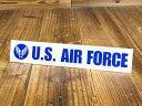 ステッカー 車 ミリタリー US AIR FORCE アメリカ空軍 世田谷ベース アメリカン おしゃれ バイク かっこいい カーステッカー 転写 タイプE ブルー サイズS 【メール便OK】_SC-AF009BL-TST