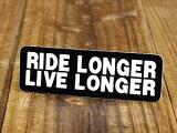 ステッカー ヘルメット 車 アメリカン おしゃれ バイク かっこいい RIDE LONGER LIVE LONGER 長く乗り、長く生きよ 【メール便OK】_SC-059-GEN