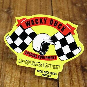ステッカー 車 アメリカン 世田谷ベース おしゃれ バイク ヘルメット かっこいい カーステッカー パロディ ワッキーダック 【メール便OK】_SC-WD11CH-SXW