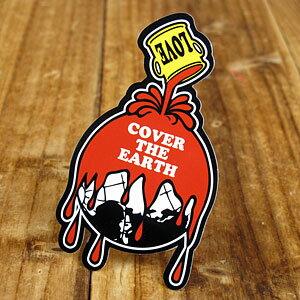 ステッカー 車 アメリカン おしゃれ バイク ヘルメット かっこいい カーステッカー パロディ LOVE COVER THE EARTH 【メール便OK】_SC-LS005-SXW