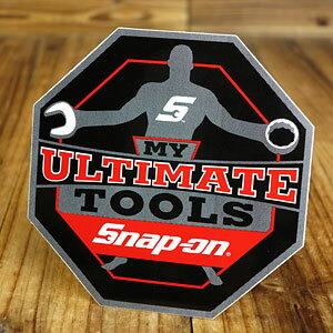 スナップオン ステッカー 車 アメリカン おしゃれ バイク ヘルメット かっこいい カーステッカー レンチ ツール 工具 UFC Snap-on MY ULTIMATE TOOLS 【メール便OK】_SC-SN010-FNM