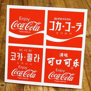 コカコーラステッカー/CC-BA21/4枚セット カーステッカー_SC-CCBA21-LFS【…