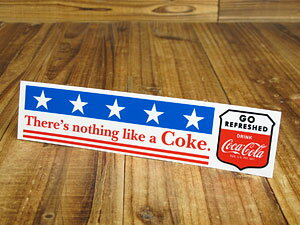 コカコーラ ステッカー グッズ 車 アメリカン おしゃれ バイク ヘルメット かっこいい カーステッカー There's nothing like a Coke 【メール便OK】_SC-CCBS8-LFS