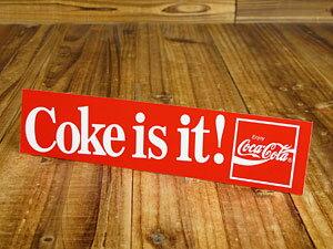 コカコーラ ステッカー グッズ 車 アメリカン おしゃれ バイク ヘルメット かっこいい カーステッカー Coke is it! 【メール便OK】_SC-CCBS12-LFS