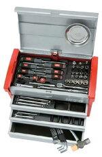 【送料無料】KTCSK3650E工具セット(チェストタイプ)66点【工具セット】