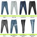 【送料無料】デニム ジョガーパンツ メンズ スウェットパンツ スウェットデニム/スウェットデニムジョガー/サイドライン パンツ ラインパンツ スウェット 下 スリム 細身 大きいサイズ LL 2XL サーフ系 ストレッチ 春服 セットアップ使いも 2