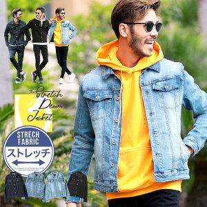 ◆roshell(ロシェル)スーパーストレッチGジャン◆デニムジャケット メンズ ジージャン Gジャン ジャケット カジュアル アウター メンズファッション 服 春服