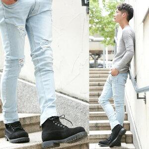 メンズブーツメンズブーツ◆roshell(ロシェル)フェイクスエードワークブーツ◆イエローブーツメンズシューズワークブーツスエードスウェードショートショートブーツ靴レザー黒メンズファッション