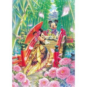 TEN-DPG266-572 Disney MIYABI Japanese Modern Wedding Dream (Mickey Minnie) 266 Piece Jigsaw Puzzle