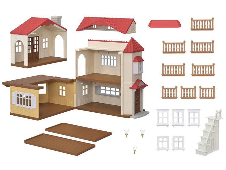 ハ-48 シルバニアファミリー 赤い屋根の大きなお家 おもちゃ 【あす楽】[CP-SF] 誕生日 プレゼント 子供 女の子 3歳 4歳 5歳 6歳 ギフト お人形 シルバニア