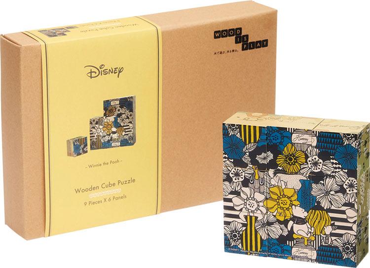 YAM-607-02 ディズニー woodisplay キューブパズル 9ピース スカンジナビア(くまのプーさん) キューブパズル パズル Puzzle ギフト 誕生日 プレゼント画像