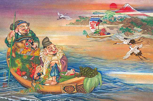 APP-1000-844 竹内 白雅 えびす大黒 藻刈舟 (もかりぶね) 1000ピース ジグソーパズル パズル Puzzle ギフト 誕生日 プレゼント 誕生日プレゼント