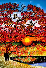 APP-300-345藤城清治もみじ300ピース●予約ジグソーパズルパズルPuzzleギフト誕生日プレゼント