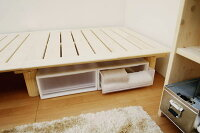 【国産】桧すのこベッド「ビビ」セミダブルサイズ