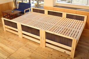 【国産】ひのき三段ベッド、キングサイズ
