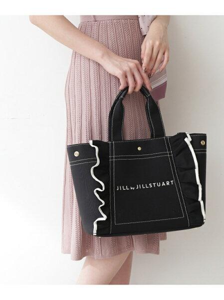 フリルトートバッグ(大)JILLbyJILLSTUARTジルバイジルスチュアートバッグバッグその他ブラックホワイトブラウン